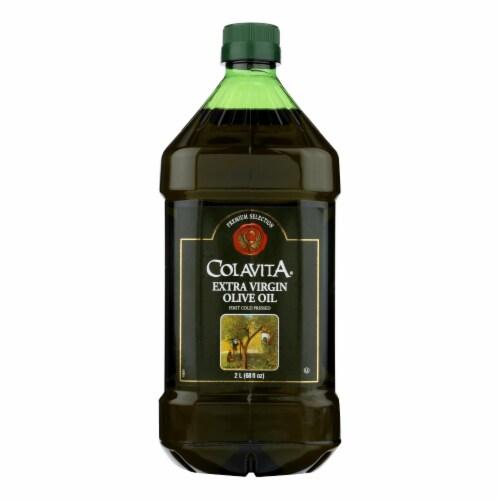 Colavita Olive Oil -  Premium Extra Virgin - Case of 6 - 68 fl oz Perspective: front