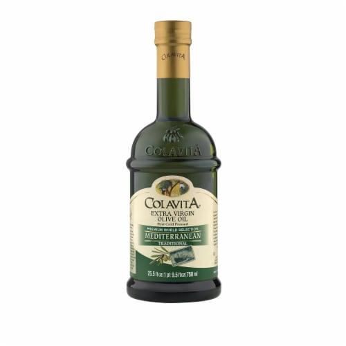 Colavita - Extra Virgin Olive Oil - Mediterranean - Case of 6 - 25.5 Fl oz. Perspective: front
