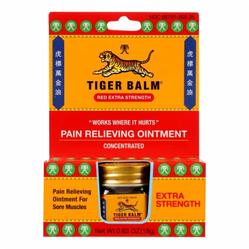 Tiger Balm Extra Strength Pain Relieving Ointment - 0.63 oz - Case of 6 Perspective: front