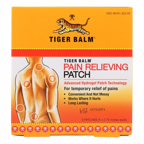 Tiger Balm Patch Display Center - Case of 6 - 5 Packs Perspective: front