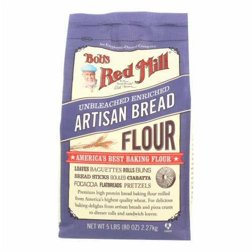Bob's Red Mill - Artisan Bread Flour - 5 lb - Case of 4 Perspective: front