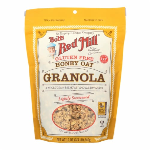 Bob's Red Mill - Gluten Free Honey Oat Granola - 12 oz - Case of 4 Perspective: front