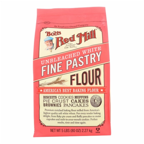 Bob's Red Mill - Unbleached White Fine Pastry Flour - 5 lb - Case of 4 Perspective: front