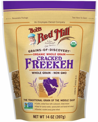 Bobs Red Mill Organic Cracked Freekeh Perspective: front