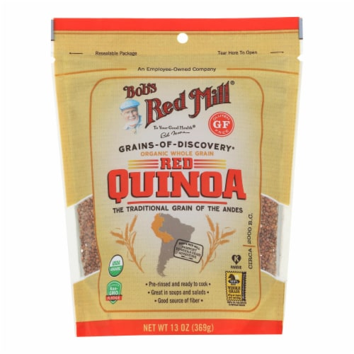 Bob's Red Mill Organic Whole Grain Red Quinoa - Case of 6 - 13 OZ Perspective: front