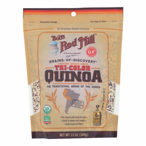 Bob's Red Mill Organic Whole Grain Tri-Color Quinoa - Case of 6 - 13 OZ Perspective: front
