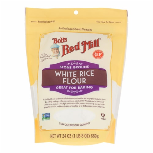 Bob's Red Mill - Flour Wht Rice Stne Ground - Case of 4-24 OZ Perspective: front