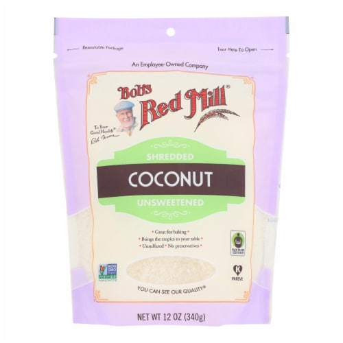 Bob's Red Mill - Coconut Shredded - Case of 4-12 oz Perspective: front
