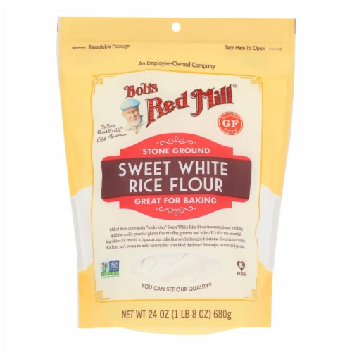 Bob's Red Mill - Rice Flour Sweet Whte Gluten Free - Case of 4 - 24 OZ Perspective: front