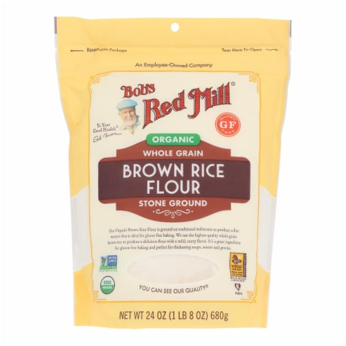 Bob's Red Mill - Flour Rice Brown - Case of 4 - 24 OZ Perspective: front