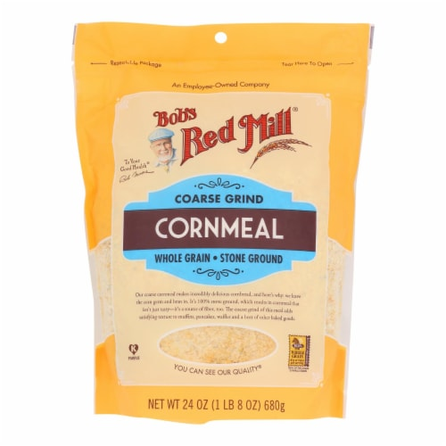 Bob's Red Mill - Cornmeal Course Grind - Case of 4-24 OZ Perspective: front