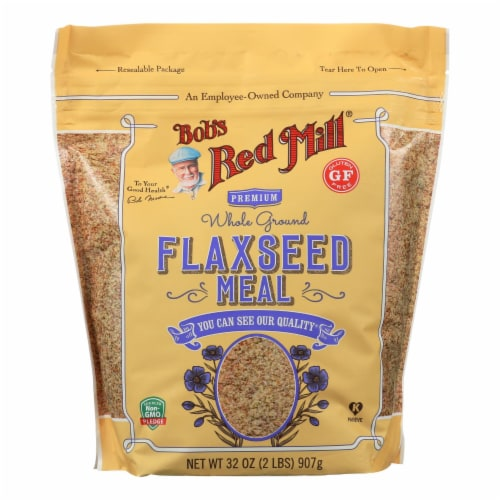 Bob's Red Mill - Flaxseed Meal - Gluten Free - Case of 4 - 32 oz Perspective: front