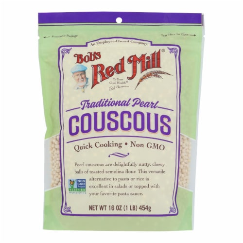 Bob's Red Mill - Couscous Pearl Natural - Case of 4 - 16 OZ Perspective: front