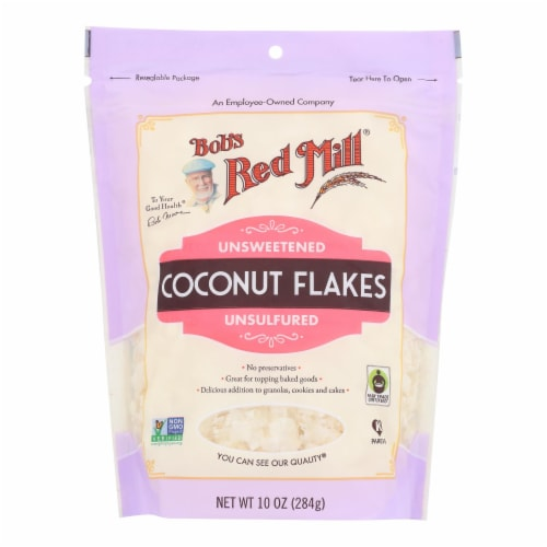 Bob's Red Mill® Unsweetened Coconut Flakes Perspective: front