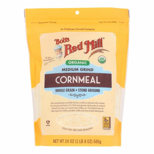 Bob's Red Mill - Cornmeal Medium - Case of 4 - 24 OZ Perspective: front
