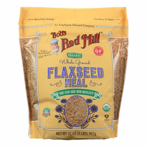 Bob's Red Mill - Organic Flaxseed Meal - Brown - Case of 4 - 32 oz Perspective: front