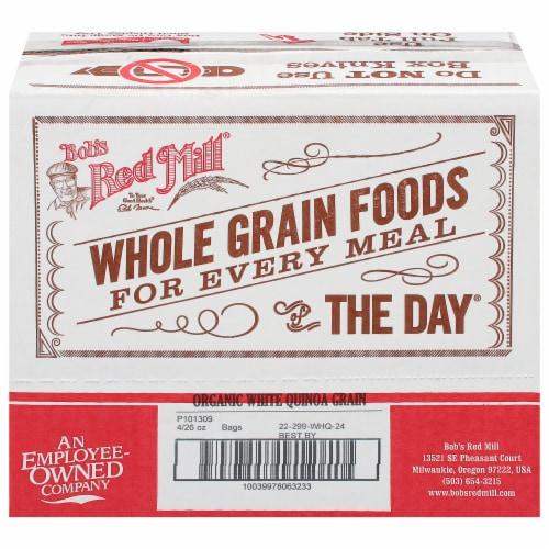 Bob's Red Mill Organic Whole Grain Quinoa - Case of 4 - 26 OZ Perspective: front