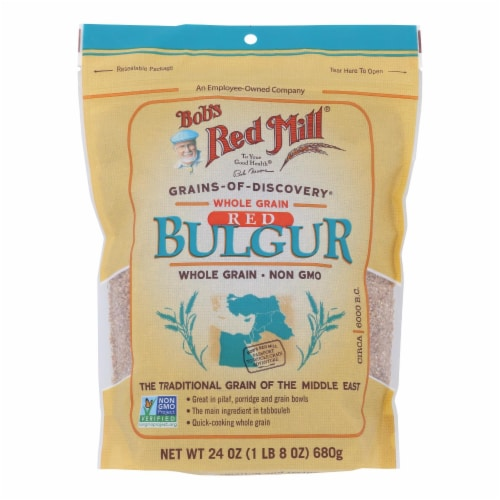 Bob's Red Mill Whole Grain Red Bulgur Perspective: front