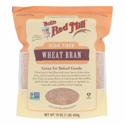 Bob's Red Mill - Wheat Bran - Case of 4-16 OZ Perspective: front