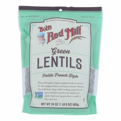 Bob's Red Mill - Beans Pet Fr Green Lentil Perspective: front
