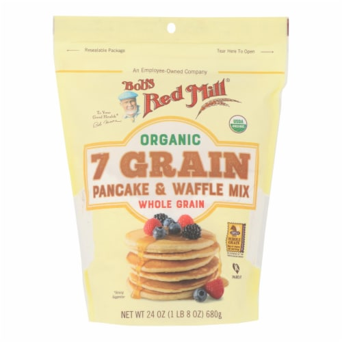 Bob's Red Mill - Pancake/waffle 7 Green - Case of 4 - 24 OZ Perspective: front