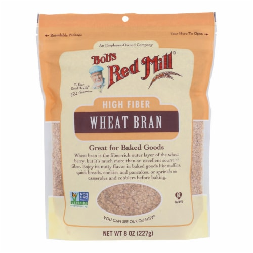 Bob's Red Mill - Wheat Bran - Case of 4-8 OZ Perspective: front