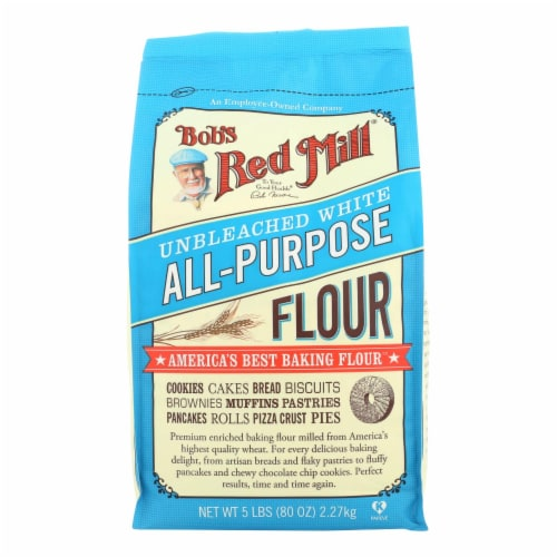 Bob's Red Mill - Unbleached White All-Purpose Baking Flour - 5 lb - Case of 4 Perspective: front