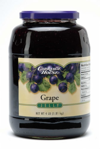 Jelly Carriage House Concord Grape 6 Case 4 Pound Perspective: front