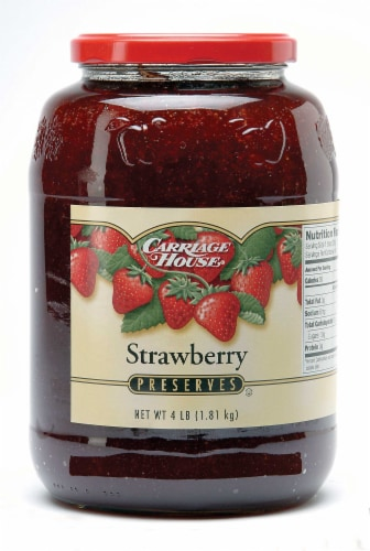 Preserves Carriage House Strawberry 6 Case 4 Pound Perspective: front