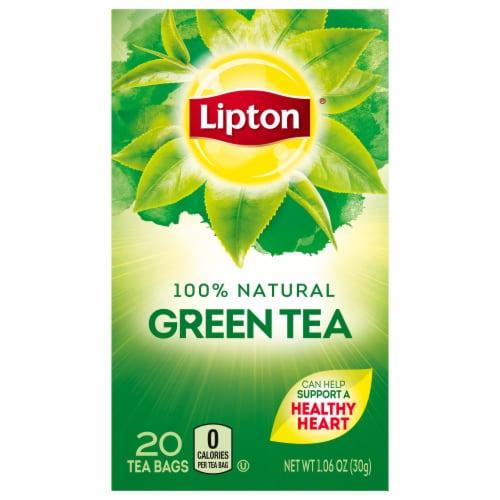 Lipton 100 Percent Green Tea, 1.2 Ounce -- 6 per case. Perspective: front