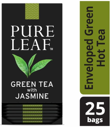 Pure Leaf Green with Jasmine Enveloped Hot Tea Bags, 25 count -- 6 per case Perspective: front