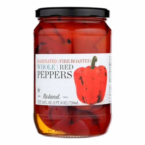 Roland Peppers - Roasted Red - Case of 12 - 24 oz. Perspective: front