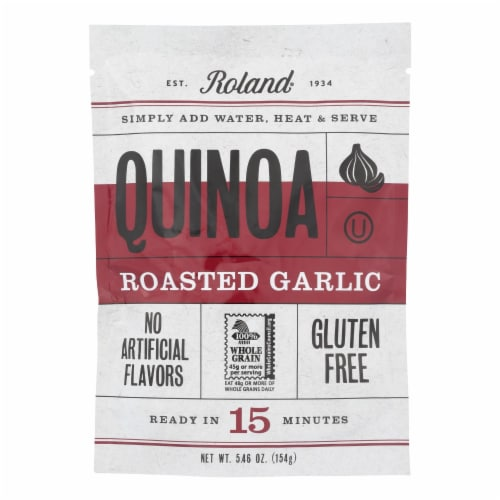 Roland Quinoa - Roasted Garlic - Case of 12 - 5.46 oz. Perspective: front