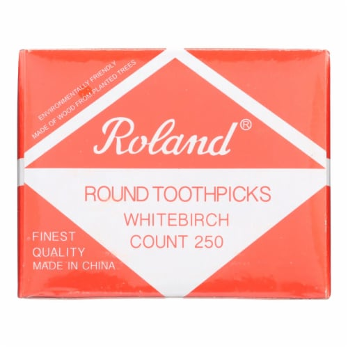 Roland Products - Toothpicks Round Birchwd - Case of 48 - 25O CT Perspective: front
