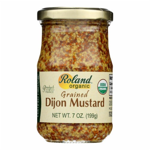 Roland Products - Mustard Dijon Grained - Case of 12 - 7 OZ Perspective: front