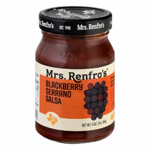Mrs. Renfro's Blackberry Serrano Salsa Hot Medium 16oz (Pack of 6) Perspective: front