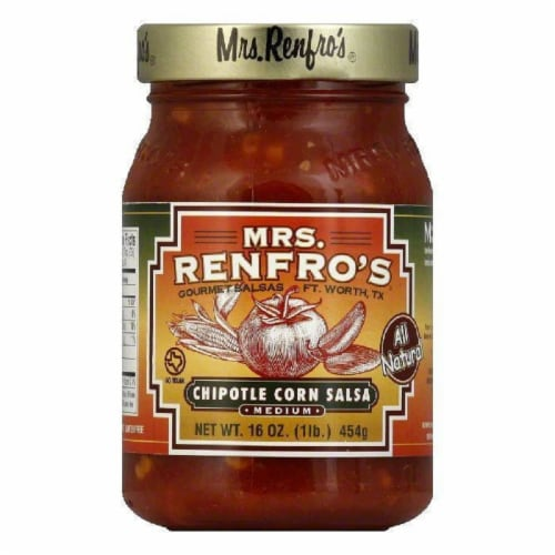 Mrs. Renfro's Salsa Chipotle Corn, 16 OZ (Pack of 6) Perspective: front