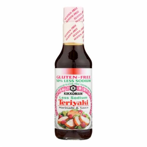 Kikkoman Soy Sauce - Less Sodium - Case of 6 - 10 Fl oz. Perspective: front