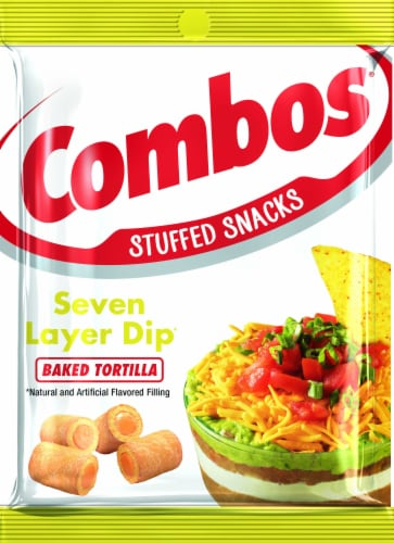 Combos 7 Layer Dip Tortilla Snack, 6.3 Ounce -- 12 per case. Perspective: front