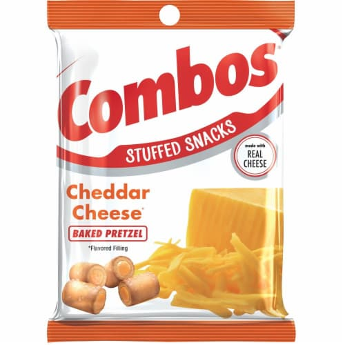 Combos Cheddar Cheese Pretzel Snacks Perspective: front