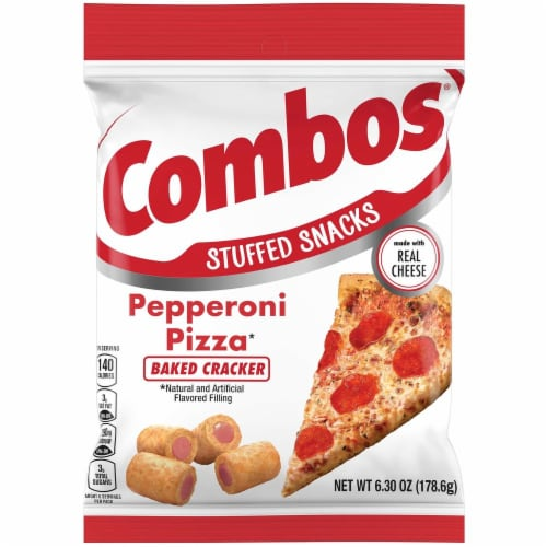 Combos Pepperoni Pizza Cracker Snack, 6.3 Ounce -- 12 per case. Perspective: front