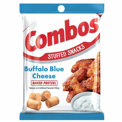 Combos Buffalo Blue Cheese Snack, 6.3 Ounce -- 12 per case. Perspective: front