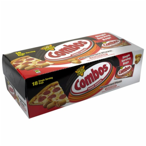 Combos Pepperoni Pizza Baked Snacks Cracker -- 216 per case. Perspective: front