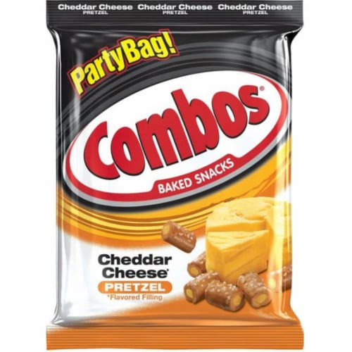 Combos Cheddar Cheese Pretzel Baked Snacks, 15 Ounce -- 8 per case. Perspective: front
