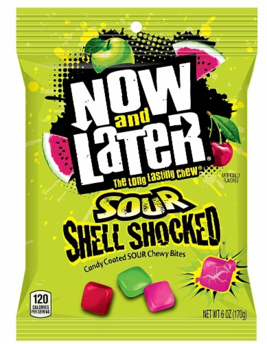 Now & Later Sour Shell Shocked Candy Perspective: front