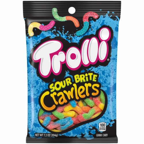 Trolli Sour Brite Crawlers Gummi Candy Perspective: front