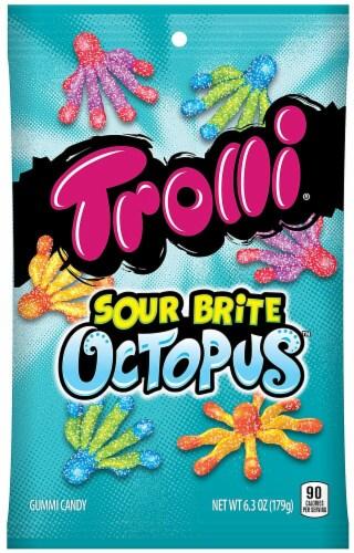 Ferrara  Trolli Sour Brite Octopus Gummi Candy Perspective: front