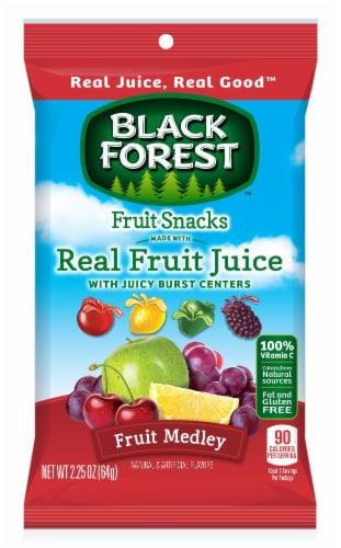 Black Forest Fruit Medley Liquid Filled Fruit Snacks, 2.25 Ounce -- 48 per case. Perspective: front