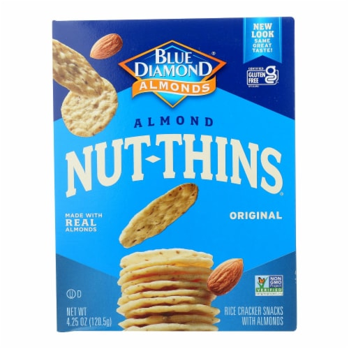 Blue Diamond - Nut Thins - Almond - Case of 12 - 4.25 oz. Perspective: front