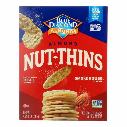Blue Diamond - Nut Thins - Smokehouse - Case of 12 - 4.25 oz. Perspective: front